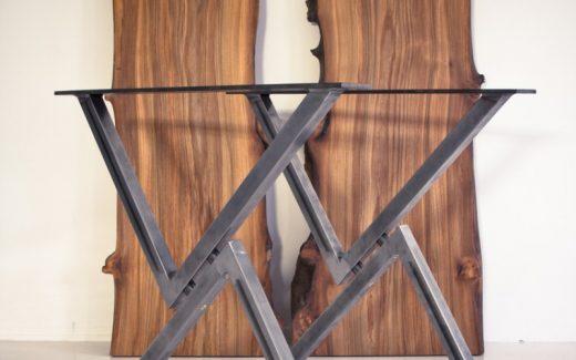 Skab et råt og unikt bord med stålbordben